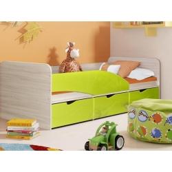 Кровать Бриз - 3 (Зеленый, Оранжевый, Шоколад)
