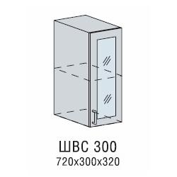 Валерия шкаф верхний со стеклом 300