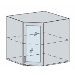 Валерия шкаф верхний угловой со стеклом 590