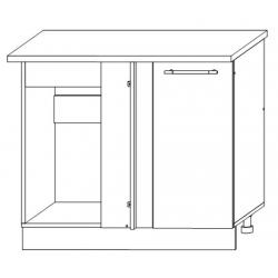 София - Лондон шкаф нижний угловой прямоугольный 1000