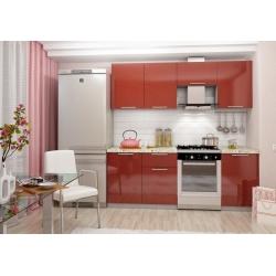 Кухня София красная комплект 1 (2,1м)
