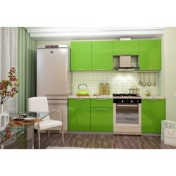 Кухня София 2,1м (зеленый)