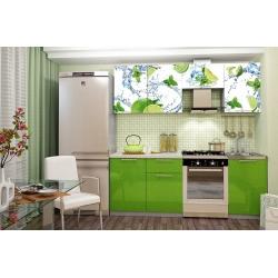 Кухня София лайм с фотопечатью 2,1м