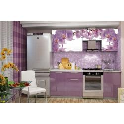 Кухня София (орхидея) с фотопечатью 2,1м