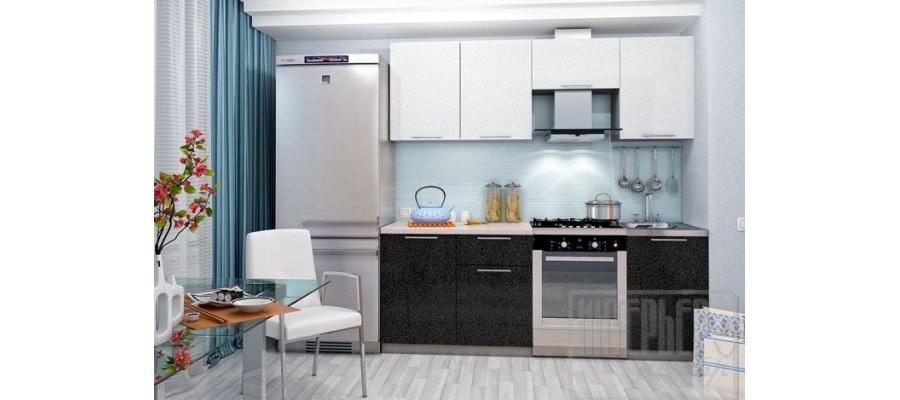Кухня София 2,1м (белый, черный, оранж, лайм, сирень, гранат)