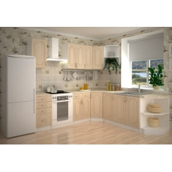 Кухня Настя модульная угловая комплектация (цвет береза)