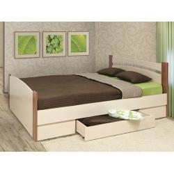 Кровать двойная с выдвижным ящиком 1600мм