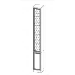 Шкаф МНЦ В-15 Олмеко (дверь комбинированная)