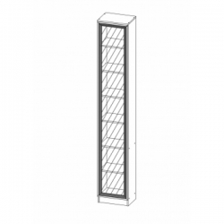 Шкаф МНЦ В-17 Олмеко (дверь стекло)