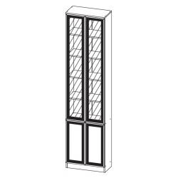 Шкаф МНЦ В-18 Олмеко (дверь комбинированная)