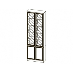 Шкаф МНЦ В-19 Олмеко (дверь комбинированная)