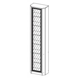 Шкаф угловой В-20 Олмеко (дверь комбинированная)