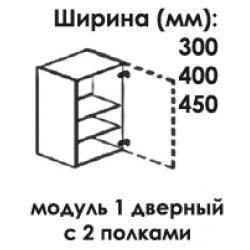 Модуль верхний 1 дверный 960