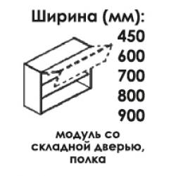 Модуль верхний со складной дверью высота 720