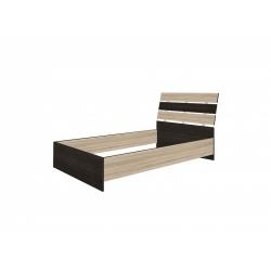 Кровать двойная 1200 основание ЛДСП Александрия, венге цаво/дуб сонома