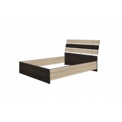 Кровать двойная 1400 основание ЛДСП Александрия, венге цаво/дуб сонома