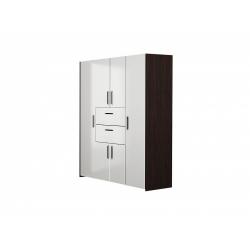 М01-Шкаф для платья и белья комбинированный, венге цаво/ белое