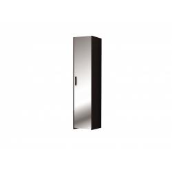 М10.01-Шкаф для платья и белья 1-но дверный с зеркалом, венге цаво/ белое