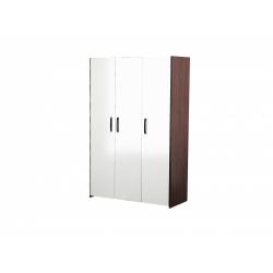 М12-Шкаф для платья и белья 3-х дверный, венге цаво/ белое