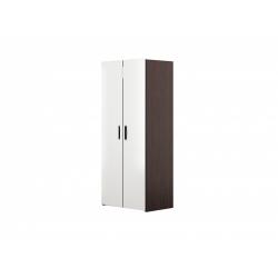 М13-Шкаф для платья и белья 2-х дверный, венге цаво/ белое