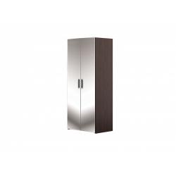 М13.02-Шкаф для платья и белья 2-х дверный с 2-мя зеркалами, венге цаво/ белое