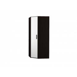 М15-Шкаф для платья и белья угловой, венге цаво/ белое