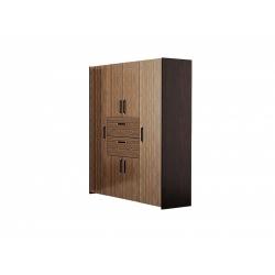 М01-Шкаф для платья и белья комбинированный, венге цаво/ рафия