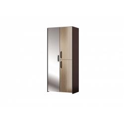 М11.01-Шкаф комбинир с зеркалом, венге цаво/ рафия
