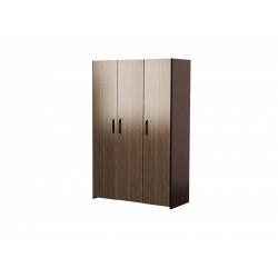 М12-Шкаф для платья и белья 3-х дверный, венге цаво/ рафия