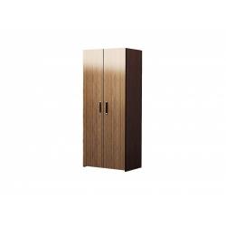 М13-Шкаф для платья и белья 2-х дверный, венге цаво/ рафия