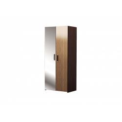 М13.01-Шкаф для платья и белья 2-х дверный с зеркалом, венге цаво/ рафия