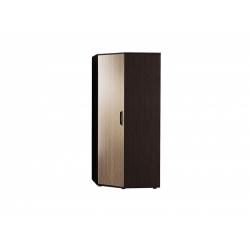 М15-Шкаф для платья и белья угловой, венге цаво/ рафия