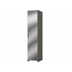 М10.01-Шкаф для платья и белья 1-но дверный с зеркалом, венге цаво/дуб беловежский