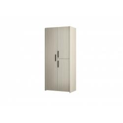 М11-Шкаф для платья и белья 3-х дверный, вяз ненси светлый