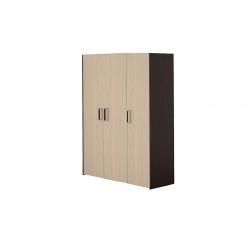 М12-Шкаф для платья и белья 3-х дверный, венге цаво/дуб беловежский