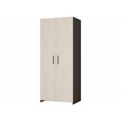 М13-Шкаф для платья и белья 2-х дверный, венге цаво/дуб беловежский