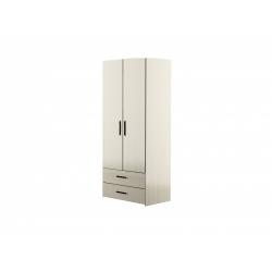М14-Шкаф для платья 2-х дверный с ящиками, вяз ненси светлый