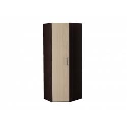 М15-Шкаф для платья и белья угловой, венге цаво/дуб беловежский
