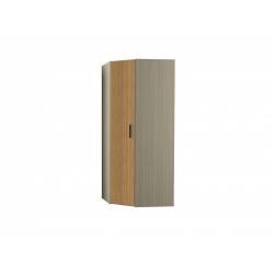 М15-Шкаф для платья и белья угловой, вяз ненси свет/вяз ненси тем