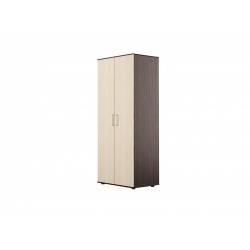 С04 Шкаф для платья 2-х дверный, венге цаво/дуб беловежский