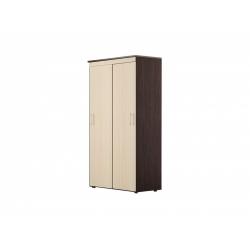 С24 Шкаф-купе для платья и белья 2-х дверный, венге цаво/дуб беловежский