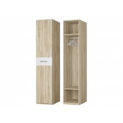 Шкаф для платья 1-но дверный, дуб сонома/белый