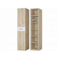 Шкаф для платья и белья 1-но дверный, дуб сонома/белый