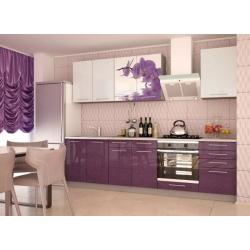 Кухня София модульная (цвета: черный, белый, красный, сирень, зеленый, оранж)