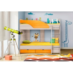 Кровать Бриз - 5 (Зеленый, Оранжевый, Шоколад)