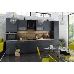 Кухня модульная - Валерия Антрацит / Королевский синий