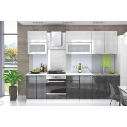 Кухня модульная - Валерия (Серебро/Черный)