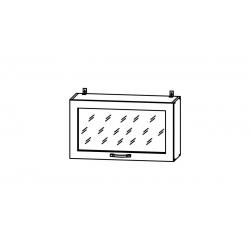 Гарда шкаф верхний горизонтальный со стеклом высокий 800