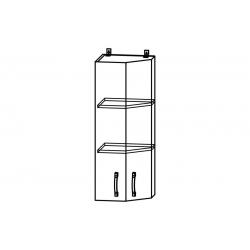 Гарда шкаф верхний торцевой угловой высокий 400