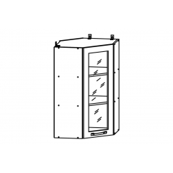 Гарда шкаф верхний угловой со стеклом высокий 550